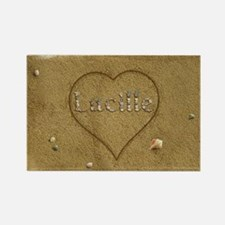 Lucille Beach Love Rectangle Magnet