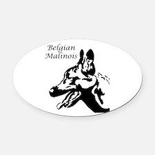 Belgian Malinois Oval Car Magnet