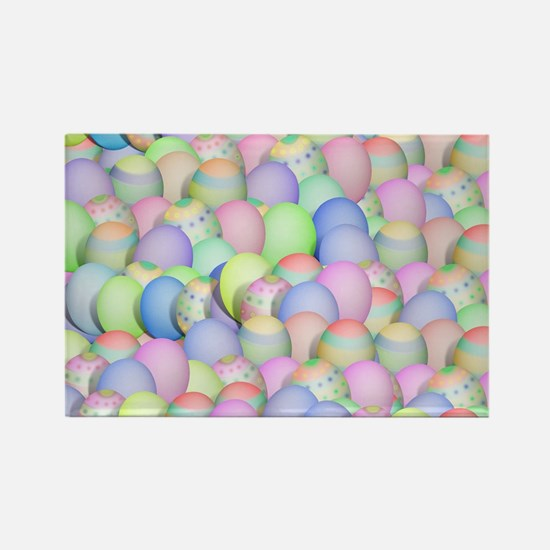 Pastel Colored Easter Eggs Magnets