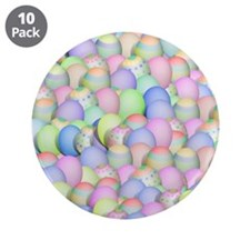 "Pastel Colored Easter Eggs 3.5"" Button (10 pack)"