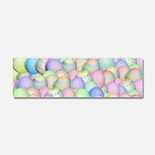Pastel Colored Easter Eggs Car Magnet 10 x 3