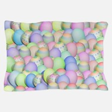 Pastel Colored Easter Eggs Pillow Case
