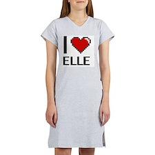 Cute I love elle Women's Nightshirt