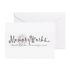 MemoryWorks Logo Greeting Cards (Pk of 20)