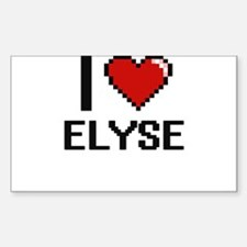 I Love Elyse Decal