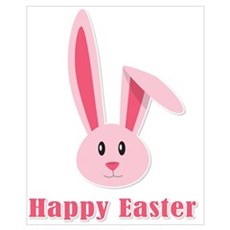 Happy Easter Bunny Canvas Art