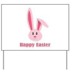 Happy Easter Bunny Yard Sign
