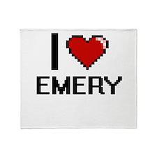 I Love Emery Throw Blanket