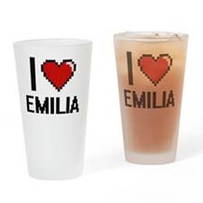 Funny Emilia Drinking Glass