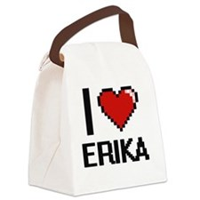 I Love Erika Canvas Lunch Bag