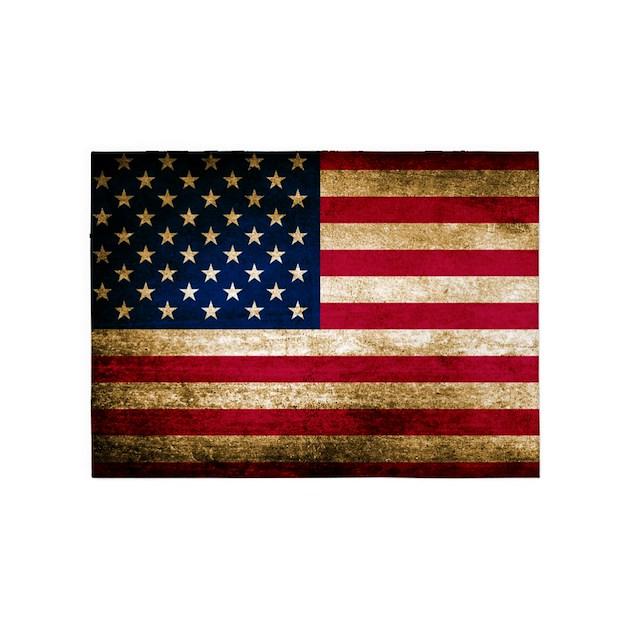Vintage Fade American Flag 5'x7'Area Rug By Admin_CP3217356