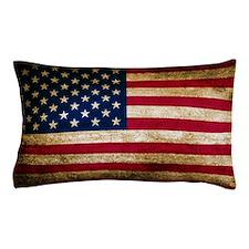 Vintage Fade American Flag Pillow Case