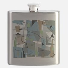 Mid-Century Modern Abstract Flask