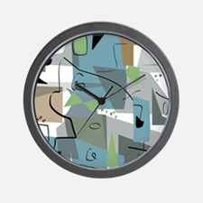 Mid-Century Modern Abstract Wall Clock