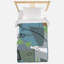 Mid-Century Modern Abstract Twin Duvet
