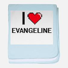 I Love Evangeline baby blanket