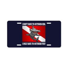 Outswim Aluminum License Plate