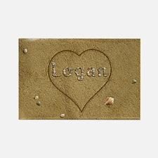 Logan Beach Love Rectangle Magnet