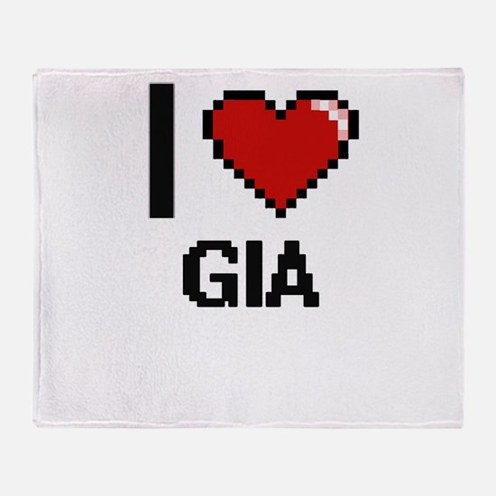 I Love Gia Throw Blanket