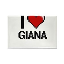 I Love Giana Magnets