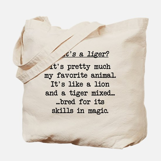 What's a Liger (blk) - Napoleon Tote Bag