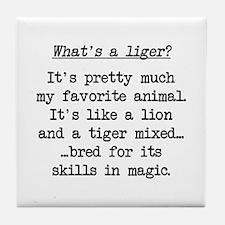 What's a Liger (blk) - Napoleon Tile Coaster
