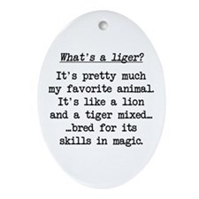 What's a Liger (blk) - Napoleon Oval Ornament