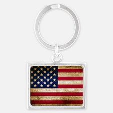 Vintage Fade American Flag Keychains