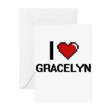 I Love Gracelyn Greeting Cards
