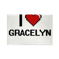 I Love Gracelyn Magnets
