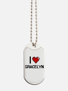 I Love Gracelyn Dog Tags