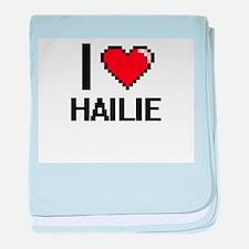 I Love Hailie baby blanket