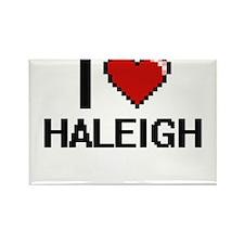 I Love Haleigh Magnets