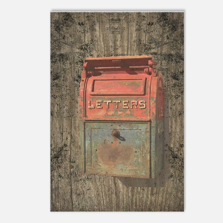 Old Rusty Mailbox Postcards (Package of 8)