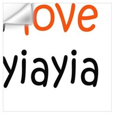 I Love Yiayia Wall Decal