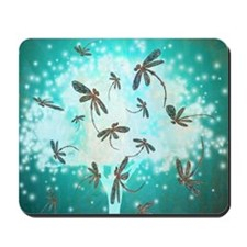 Dragonfly Glow Tree Mousepad