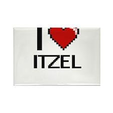 I Love Itzel Magnets