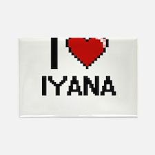 I Love Iyana Magnets