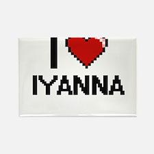 I Love Iyanna Magnets