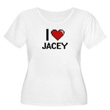 I Love Jacey Plus Size T-Shirt