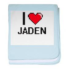 I Love Jaden baby blanket