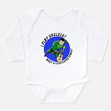 Cute Ukelele Long Sleeve Infant Bodysuit