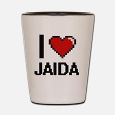 I Love Jaida Shot Glass
