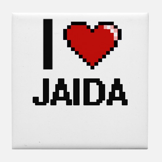 I Love Jaida Tile Coaster