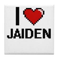 I Love Jaiden Tile Coaster