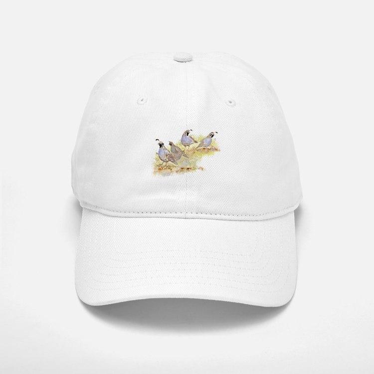 Covey of California Quail Birds Hat