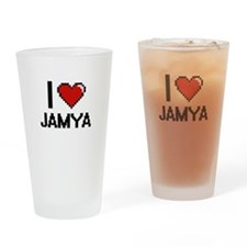 I Love Jamya Drinking Glass