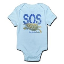 SOS Save Our Sea Turtles Body Suit