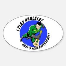 Unique Ukelele Sticker (Oval)