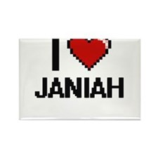 I Love Janiah Magnets